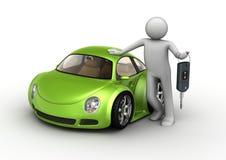 Nuova automobile verde Immagine Stock Libera da Diritti