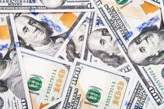 Nuova banconota in dollari 100 Fotografie Stock Libere da Diritti