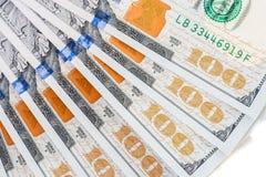 Nuova banconota in dollari degli Stati Uniti 100 Fotografie Stock Libere da Diritti