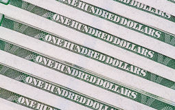 Nuova banconota in dollari degli Stati Uniti 100 Immagini Stock Libere da Diritti