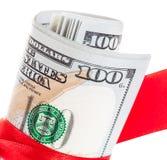 Nuova banconota in dollari degli Stati Uniti 100 Fotografia Stock Libera da Diritti