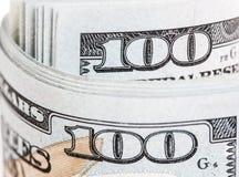 Nuova banconota in dollari degli Stati Uniti 100 Fotografie Stock