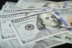 Nuova banconota in dollari dell'americano cento Fotografie Stock Libere da Diritti