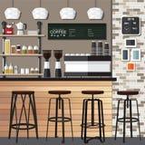 Nuova caffetteria Fotografia Stock