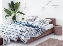 Nuova camera da letto scandinava di stile di boho Immagine Stock
