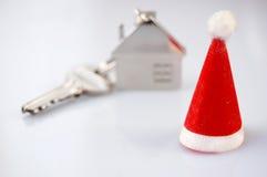 Nuova casa come regalo! Fotografie Stock Libere da Diritti