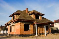 Nuova casa in costruzione Fotografia Stock