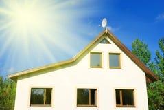 Nuova casa della famiglia Fotografia Stock Libera da Diritti