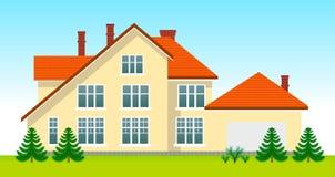 Nuova casa della famiglia in giorno Immagini Stock Libere da Diritti