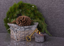 Nuova casa di concetto nel Natale Fotografia Stock