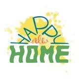 Nuova casa felice Citazione Colourful per le cartoline e le insegne royalty illustrazione gratis