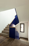 Nuova casa interna, scala Fotografia Stock