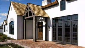 Nuova casa moderna di stile del cottage video d archivio
