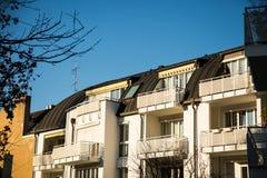 Nuova casa nella città da Monaco di Baviera Fotografie Stock Libere da Diritti