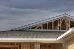 Nuova Casa-sotto-costruzione Immagini Stock Libere da Diritti