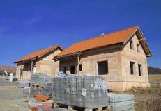 Nuova casa subito dopo di costruzione Fotografie Stock