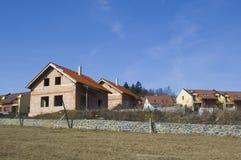 Nuova casa subito dopo di costruzione Immagine Stock Libera da Diritti