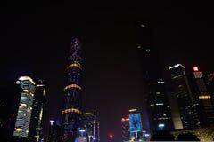 Nuova città di Zhujiang Fotografia Stock