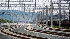 Nuova copertura della ferrovia Soleggiato e caldo immagine stock libera da diritti