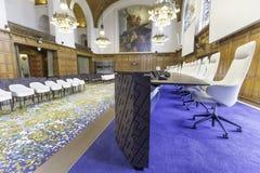 Nuova corte internazionale di giustizia Courtroom Fotografia Stock Libera da Diritti