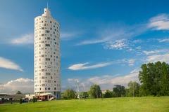 Nuova costruzione alta di forma rotonda Fotografie Stock Libere da Diritti