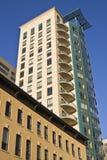 Nuova costruzione del condominio in Chicago Fotografia Stock Libera da Diritti
