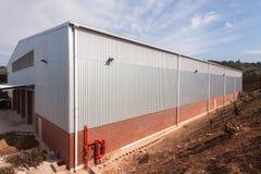 Nuova costruzione del magazzino della fabbrica Immagine Stock Libera da Diritti