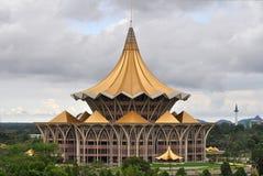 Nuova costruzione del Parlamento in Kuching Fotografia Stock