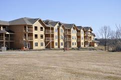 Nuova costruzione dell'appartamento fotografie stock