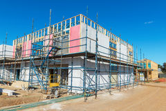 Nuova costruzione delle case Fotografia Stock