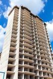 Nuova costruzione di appartamento alta in costruzione Fotografia Stock Libera da Diritti