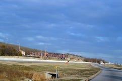 Nuova costruzione di nord-ovest di Fayetteville, Arkansas, Arkansas fotografia stock libera da diritti