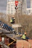 Nuova costruzione di ponte Fotografie Stock