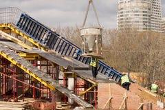 Nuova costruzione di ponte Immagine Stock