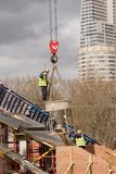 Nuova costruzione di ponte Immagini Stock Libere da Diritti