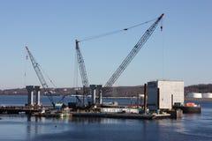 Nuova costruzione di ponticello. fotografie stock