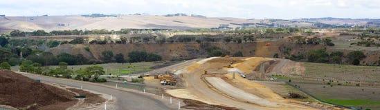 Nuova costruzione di strade Immagine Stock