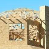 Nuova costruzione domestica della costruzione Fotografie Stock