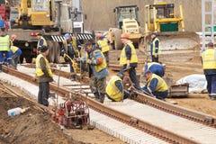 Nuova costruzione ferroviaria Fotografia Stock Libera da Diritti