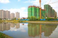Nuova costruzione incorniciata di una Camera Fotografia Stock