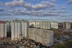 Nuova costruzione nella città di Krasnodar immagini stock