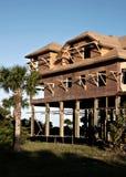 Nuova costruzione sulla linea costiera Fotografia Stock Libera da Diritti