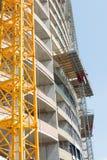 Nuova costruzione, vista della facciata della costruzione Immagine Stock Libera da Diritti
