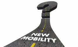 Nuova domanda Mark Road Future Transportation 3d Illustr di mobilità Immagini Stock Libere da Diritti