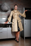 nuova donna della cucina Immagine Stock
