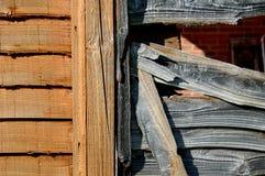 Nuova e vecchia recinzione fotografia stock libera da diritti