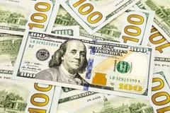 Nuova edizione 100 banconote del dollaro, valuta per contare e finan Fotografia Stock Libera da Diritti