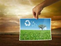 Nuova energia di potenza di eco Immagine Stock