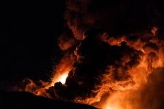 Nuova eruzione di Etna - 2013 fotografia stock libera da diritti
