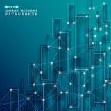 Nuova età del BAC geometrico dei modelli di tecnologia del quadrato blu di cristallo illustrazione vettoriale